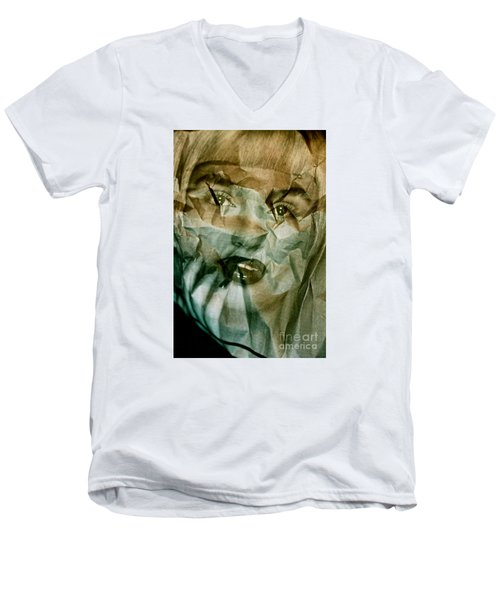 Yesterday's News Men's V-Neck T-Shirt by Michael Cinnamond