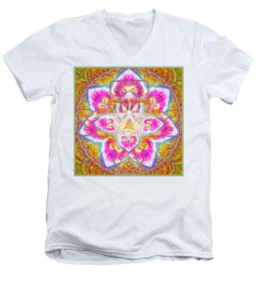Yhwh 3 14 2014 Men's V-Neck T-Shirt by Hidden  Mountain