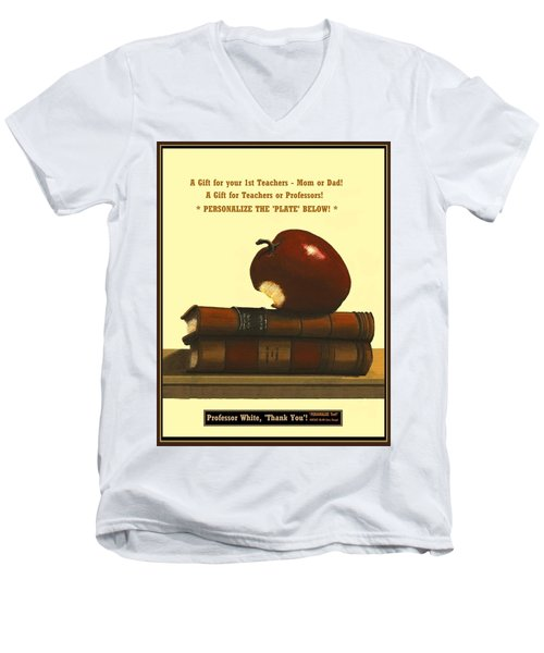You Add Personalized Text On Plate  # 6 1 Men's V-Neck T-Shirt