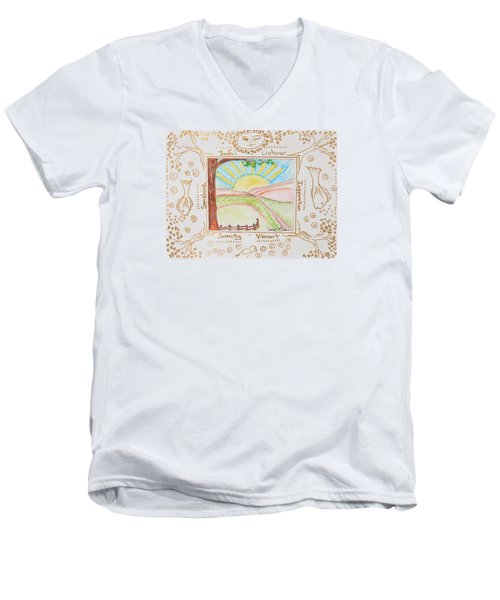 You Are My Sunshine Men's V-Neck T-Shirt by Cassie Sears