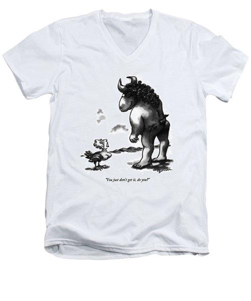 You Just Don't Get Men's V-Neck T-Shirt by Eldon Dedini