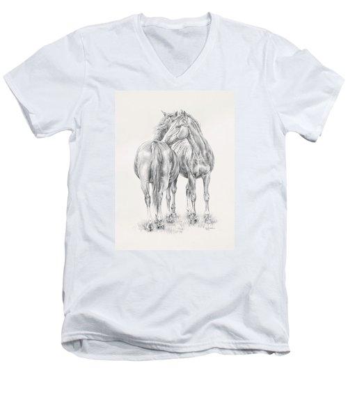 You Scratch My Back I'll Scratch Yours Men's V-Neck T-Shirt by Kim Lockman