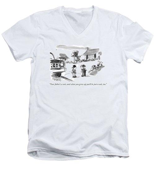 Your Father's A Suit Men's V-Neck T-Shirt