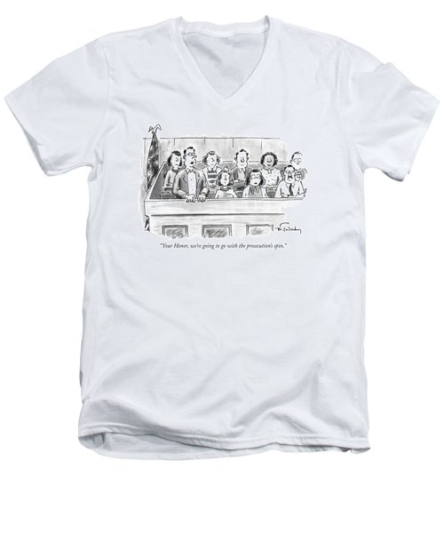 Your Honor, We're Going To Go Men's V-Neck T-Shirt