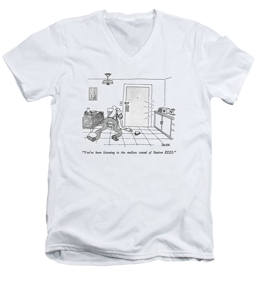 You've Been Listening To The Mellow Sound Men's V-Neck T-Shirt