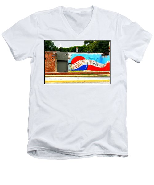 You've Got A Life To Live Pepsi Cola Wall Mural Men's V-Neck T-Shirt