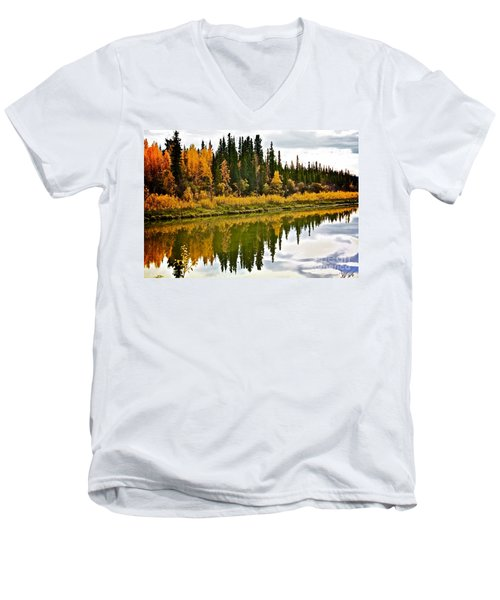 Yukon Autumn Men's V-Neck T-Shirt