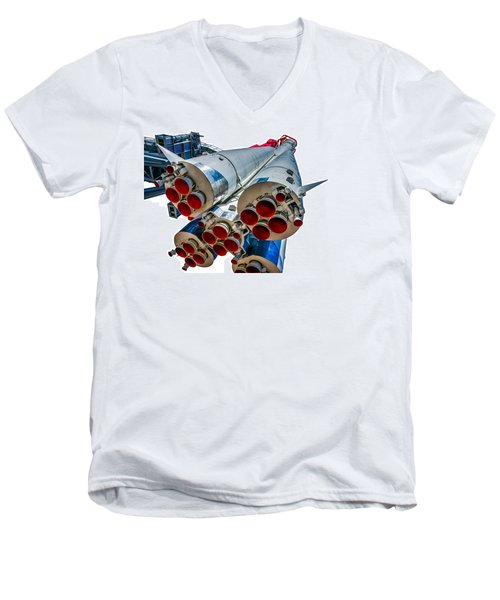 Yuri Gagarin's Spacecraft Vostok-1 - 5 Men's V-Neck T-Shirt