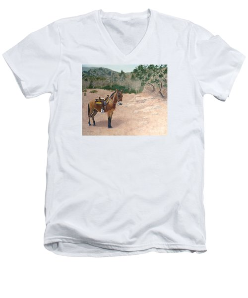 Zachary The Mule Men's V-Neck T-Shirt