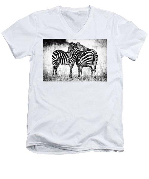 Zebra Love Men's V-Neck T-Shirt