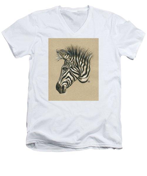 Zebra Profile Men's V-Neck T-Shirt