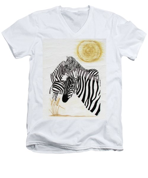 Zebra Quintet Men's V-Neck T-Shirt