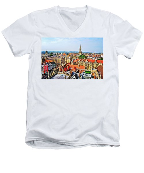 Oxford Cityscape Men's V-Neck T-Shirt