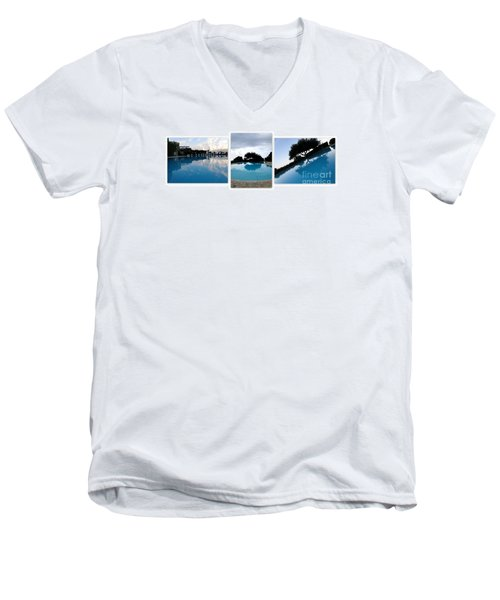 Amalfi Coast Pool Reflections Men's V-Neck T-Shirt by Tanya  Searcy