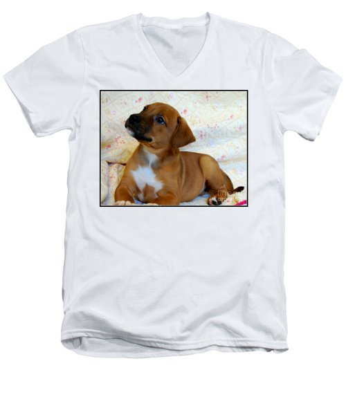 Men's V-Neck T-Shirt featuring the photograph   Take Me Home Please by Peggy Franz
