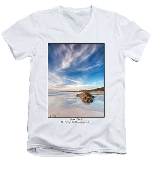 Welsh Coast - Porth Colmon Men's V-Neck T-Shirt
