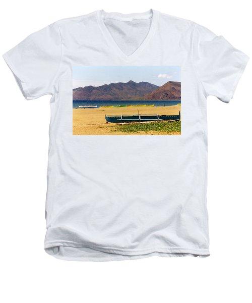 Boats On South China Sea Beach Men's V-Neck T-Shirt