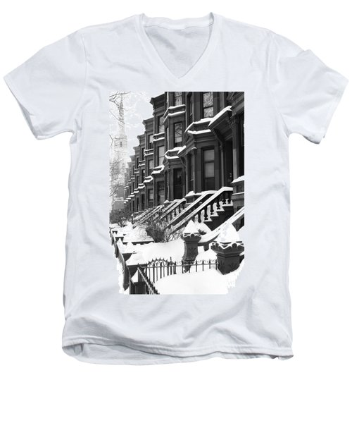 Carroll Street Men's V-Neck T-Shirt