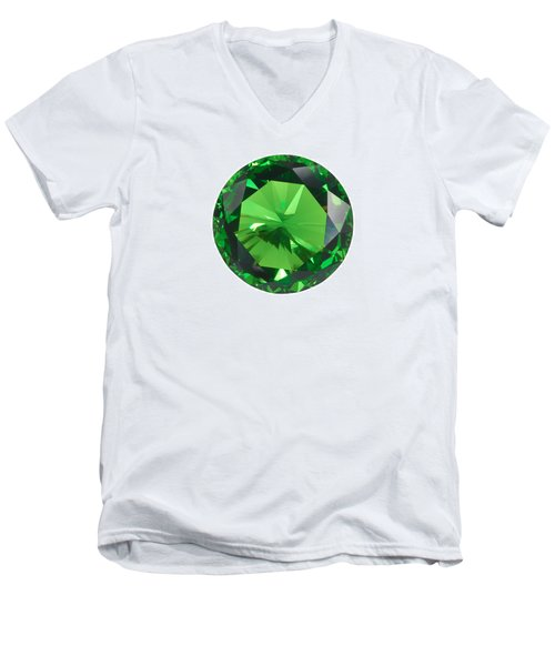 Emerald Isolated Men's V-Neck T-Shirt