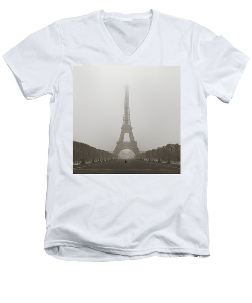 Foggy Morning In Paris Men's V-Neck T-Shirt