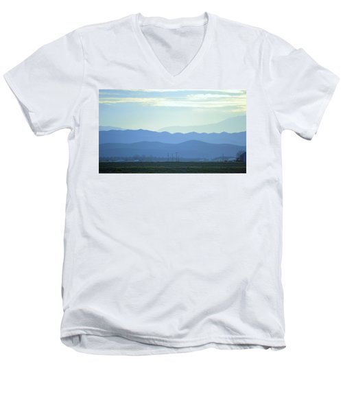 Men's V-Neck T-Shirt featuring the photograph Layers by Rima Biswas