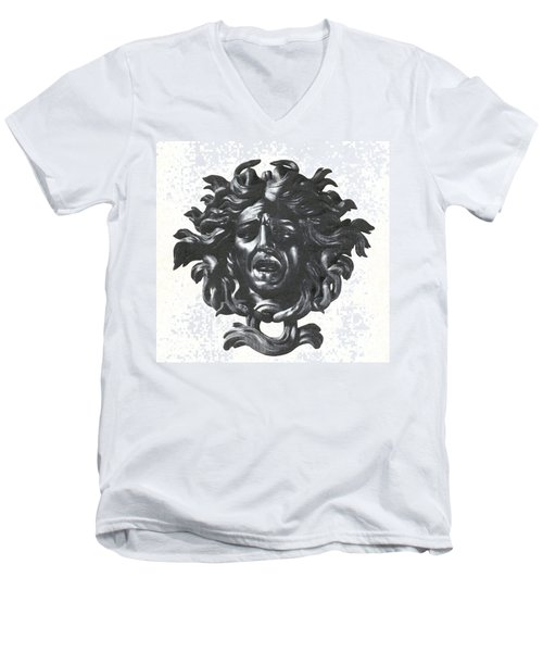 Medusa Head Men's V-Neck T-Shirt by Photo Researchers