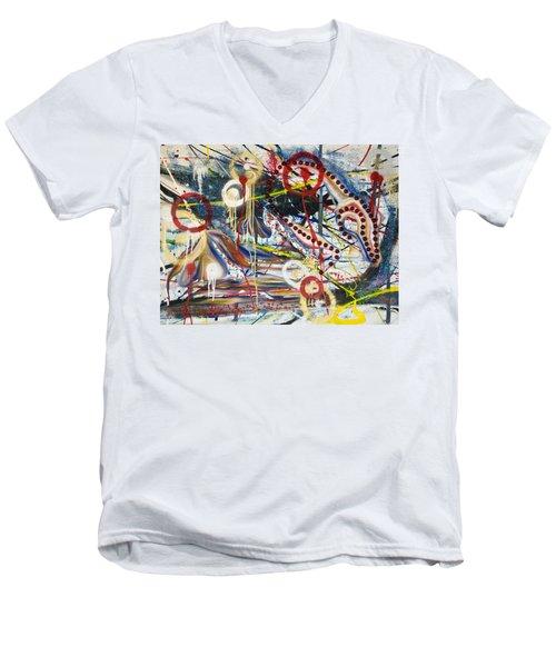 Metronomes Men's V-Neck T-Shirt by Sheridan Furrer