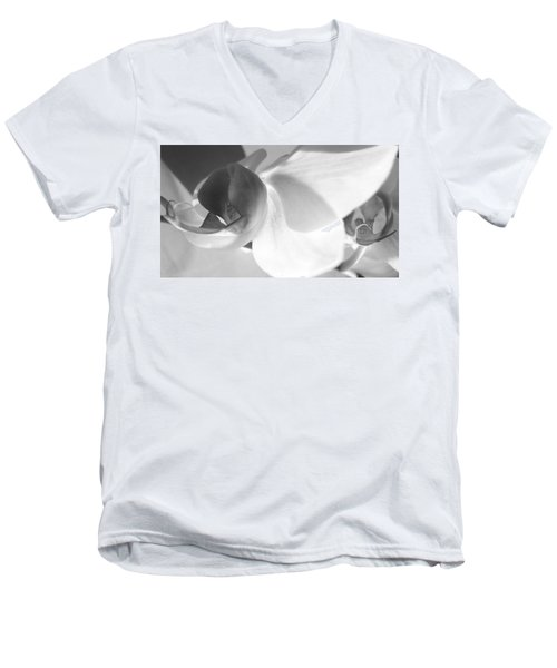 Men's V-Neck T-Shirt featuring the photograph Orchid by Kume Bryant