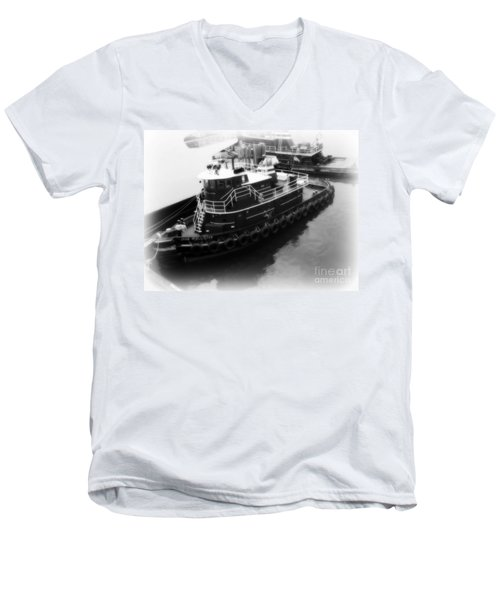 Tug  Men's V-Neck T-Shirt by Kristine Nora