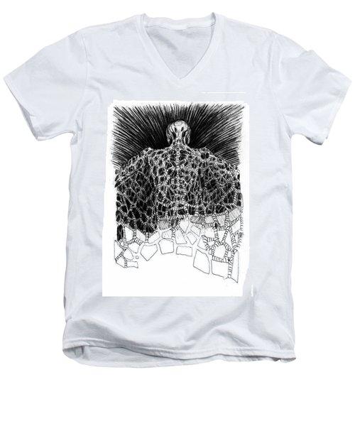 No Title  Men's V-Neck T-Shirt