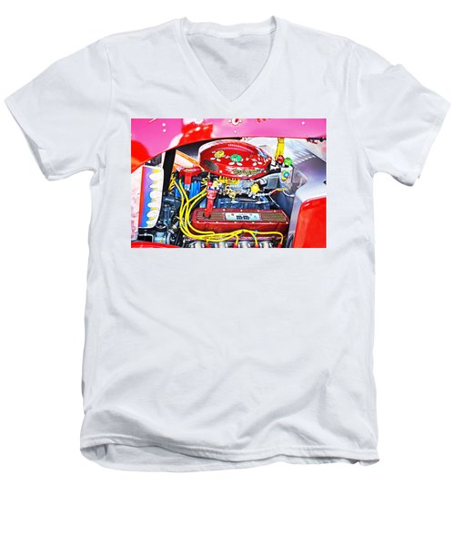 Men's V-Neck T-Shirt featuring the photograph 1933 M And M Hot Rod Ford by Paul Mashburn