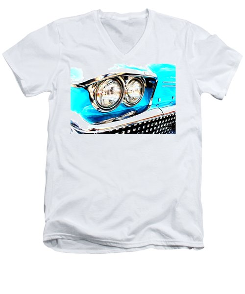 Men's V-Neck T-Shirt featuring the digital art 1958 Buick by Tony Cooper