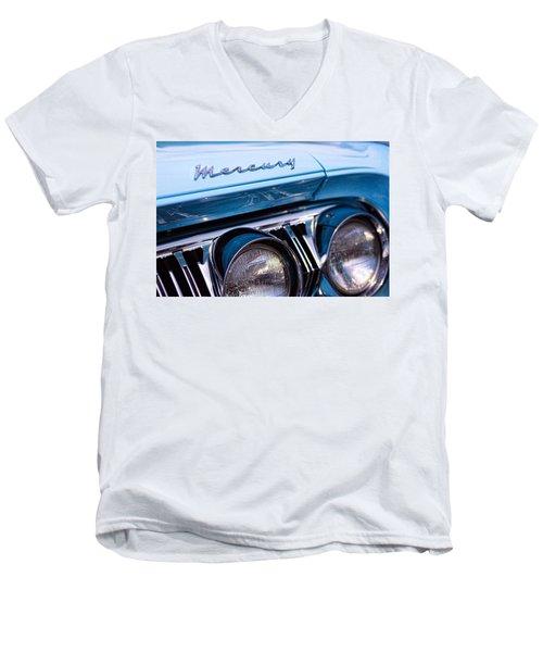 Men's V-Neck T-Shirt featuring the photograph 1964 Mercury Park Lane by Gordon Dean II