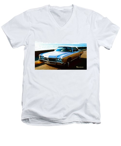 1971 Chevrolet Impala Convertible Men's V-Neck T-Shirt