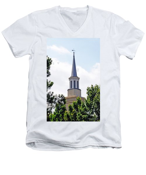 1st Presbyterian Steeple Men's V-Neck T-Shirt by Kay Lovingood