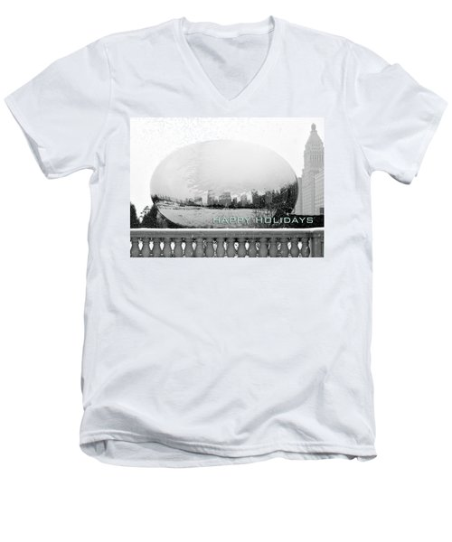 Happy Holidays From Chicago Men's V-Neck T-Shirt