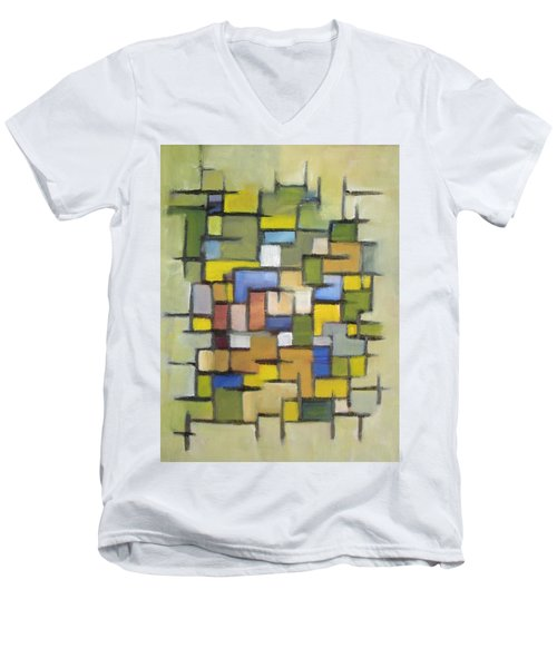 2012 Abstract Line Series Xx Men's V-Neck T-Shirt by Patricia Cleasby