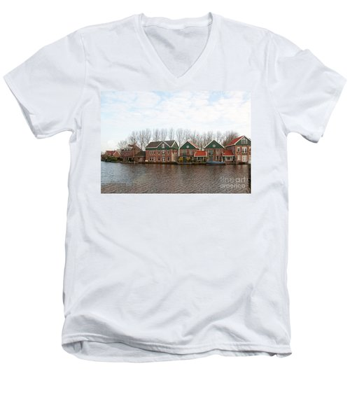 Scenes From Amsterdam Men's V-Neck T-Shirt by Carol Ailles