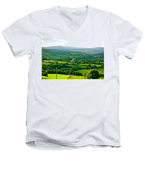 Men's V-Neck T-Shirt featuring the photograph 50 Shades Of Green by Charlie and Norma Brock