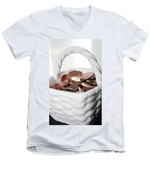 A Basket Of Pennies Men's V-Neck T-Shirt