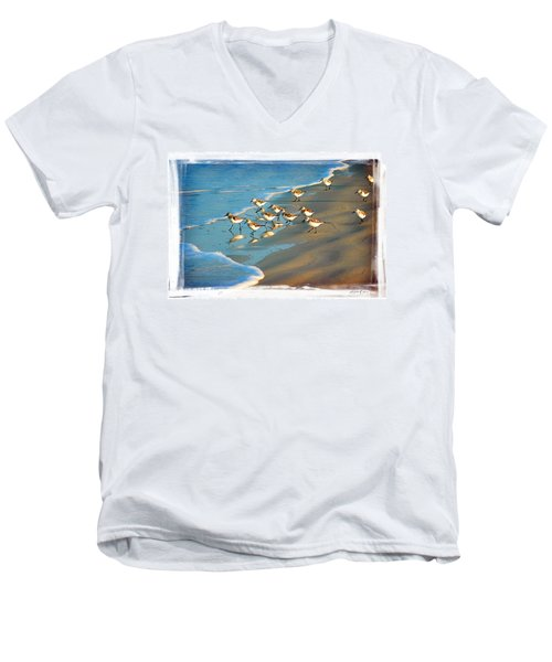 A Bevy Of Pipers Men's V-Neck T-Shirt