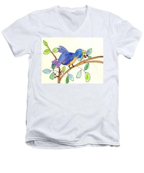 A Bird Men's V-Neck T-Shirt