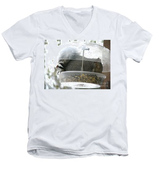 A Bit Crowded Men's V-Neck T-Shirt by Rory Sagner