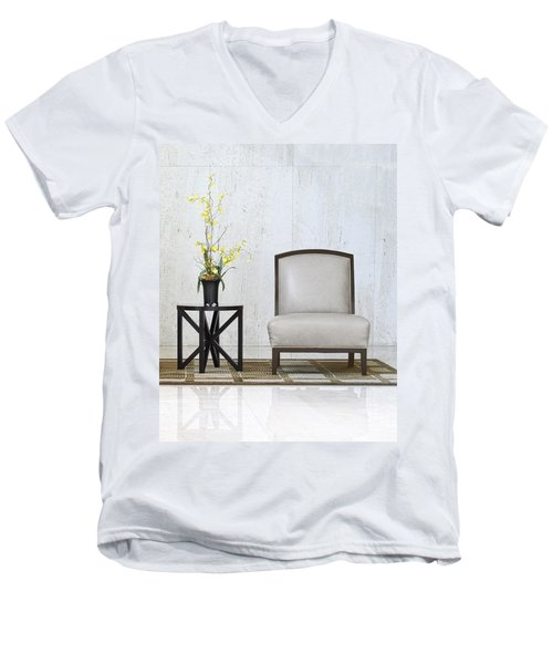 A Chair And A Table With A Plant  Men's V-Neck T-Shirt