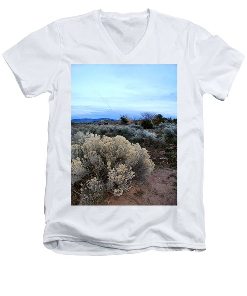 A Desert View After Sunset Men's V-Neck T-Shirt