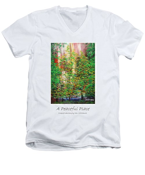 A Peaceful Place Poster Men's V-Neck T-Shirt by Dan Whittemore