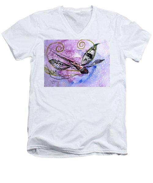 Abstract Dragonfly 6 Men's V-Neck T-Shirt