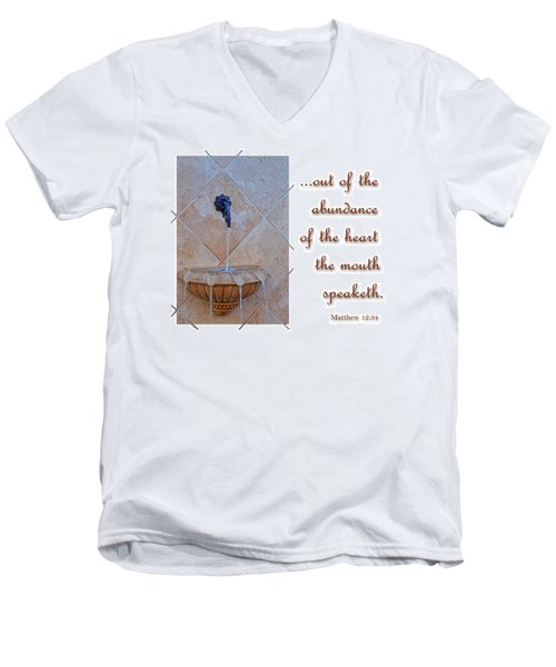 Men's V-Neck T-Shirt featuring the photograph Abundance Of The Heart by Larry Bishop