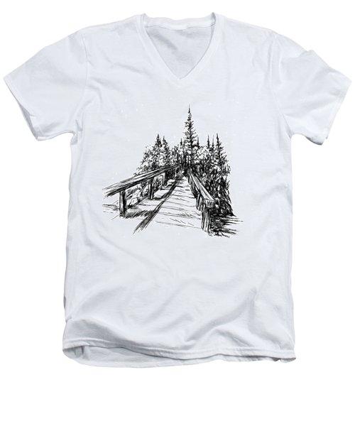 Across The Bridge Men's V-Neck T-Shirt