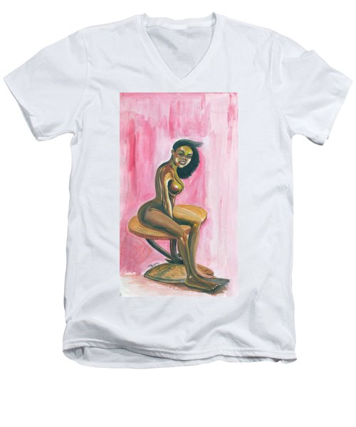 African Queen Men's V-Neck T-Shirt